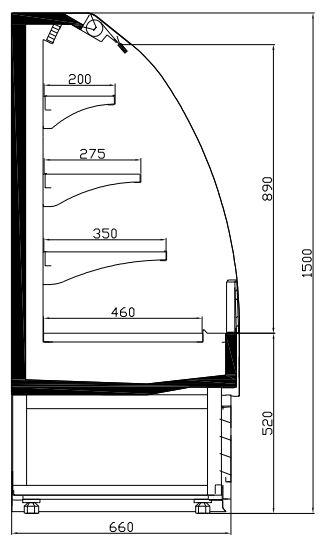 Combisteel KOELVITRINE 1.0 CS-7080.0005