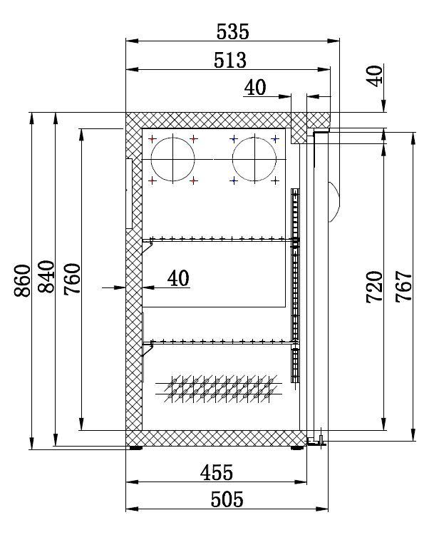 Combisteel BARCOOLER ZWART 2 DEURS CS-7450.0315
