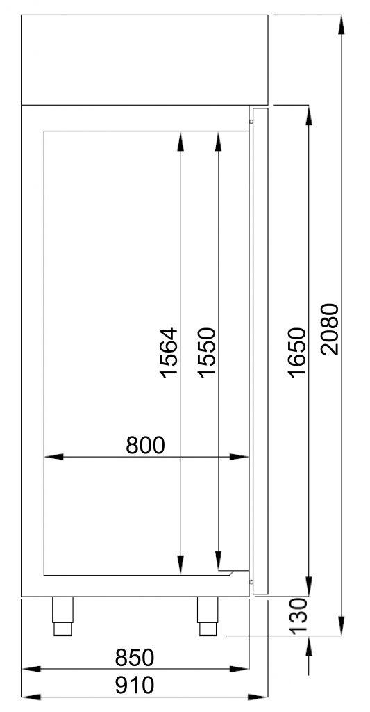 Combisteel BAKKERSVRIESKAST MONOBLOCK CS-7489.5195