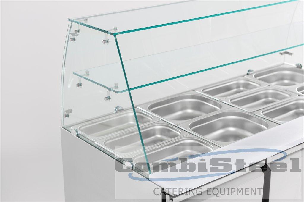 Combisteel GEKOELDE SALADETTE GLASOPSTAND 3 DRS CS-7950.0405